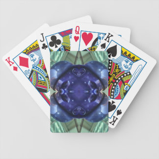 Royal Blue Aquamarine Modern Artistic Abstract Poker Deck