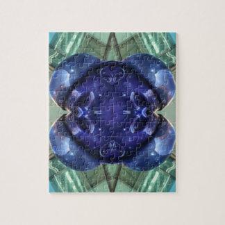 Royal Blue Aquamarine Modern Artistic Abstract Puzzles