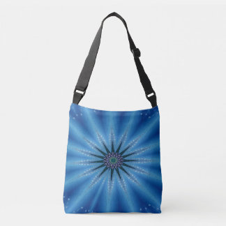 Royal Blue Artistic Starburst Crossbody Bag