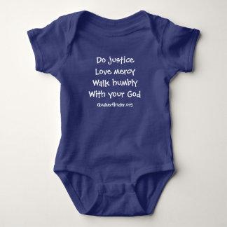 Royal Blue Baby Micah 6:8 Baby Bodysuit
