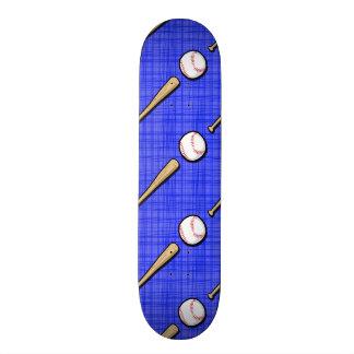 Royal Blue Baseball Pattern Custom Skateboard