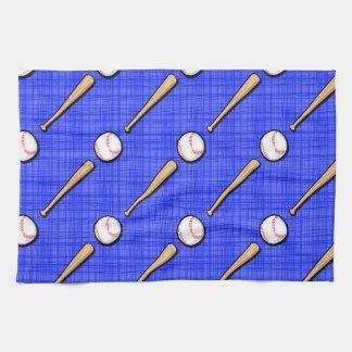 Royal Blue Baseball Pattern Towel