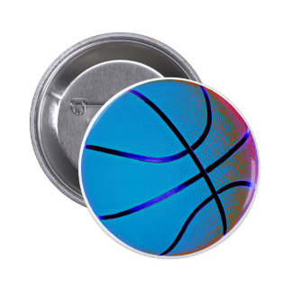 Royal Blue Basketball 6 Cm Round Badge