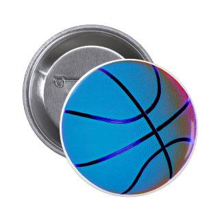 Royal Blue Basketball 6 Cm Round Badge