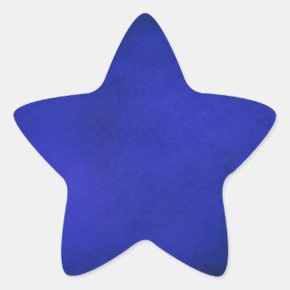 Royal Blue & Black Background Star Sticker