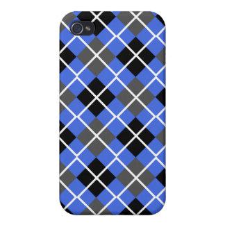 Royal Blue, Black, Grey Argyle iPhone 4 Case