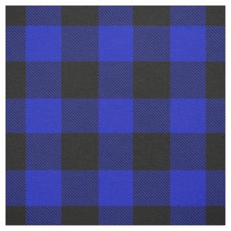 Royal Blue Black XL Buffalo Check Plaid Tartan Fabric
