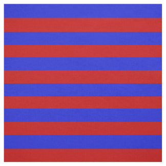 Royal blue, bright red stipe, stripes fabric