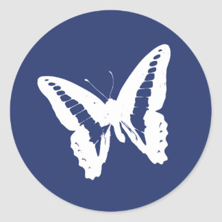 Royal Blue Butterfly Envelope Sticker Seal