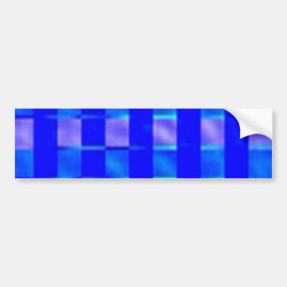 Royal Blue Check Squares Bumper Sticker