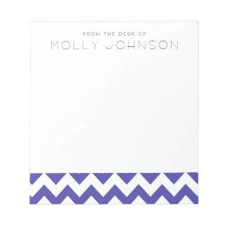 Royal Blue Chevron Bridesmaid Gift Notepad
