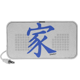 Royal Blue Chinese character for Family PC Speakers