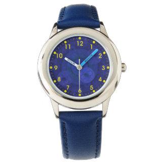 Royal Blue Circular Fractal Kids' Watch