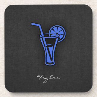 Royal Blue Cocktail Drink Coasters
