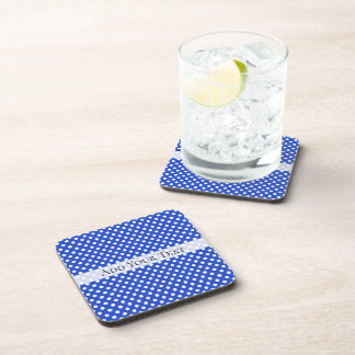 Royal Blue Combination Polka Dots by STaylor Coaster