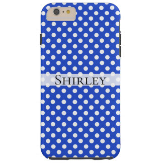 Royal Blue Combination Polka Dots by STaylor Tough iPhone 6 Plus Case