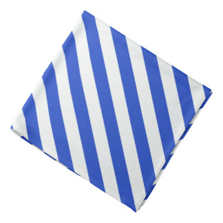 Royal Blue Combination Stripes Bandana
