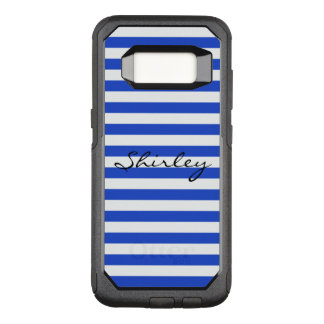 Royal Blue Combination Stripes by Shirley Taylor OtterBox Commuter Samsung Galaxy S8 Case