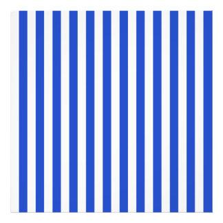 Royal Blue Combination Stripes Photo Art