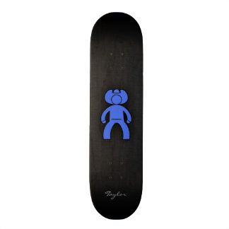 Royal Blue Cowboy Skate Board Decks