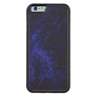 Royal Blue Cracked Lacquer Pattern Grunge Texture Maple iPhone 6 Bumper Case