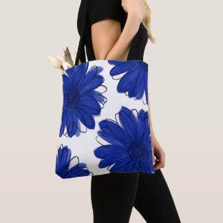 Royal Blue Daisies Tote Bag