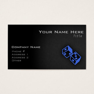 Royal Blue Dice Business Card