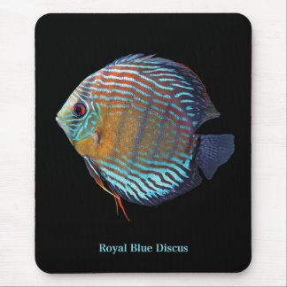 Royal Blue Discus Mouse Pad