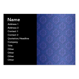 Royal Blue Double Damask Pack Of Chubby Business Cards