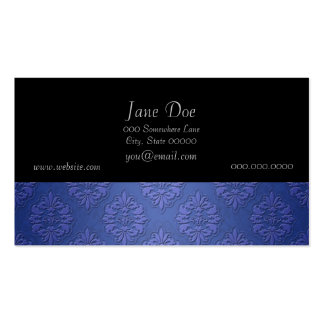 Royal Blue Double Damask Pack Of Standard Business Cards