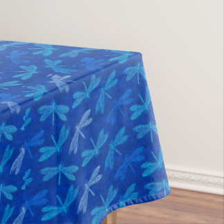 Royal Blue Dragonfly Decorative Pattern Tablecloth