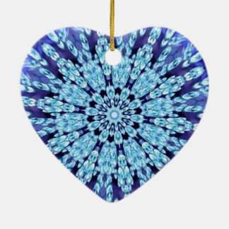 Royal Blue Dream Come True Kaleidoscope Ceramic Heart Decoration