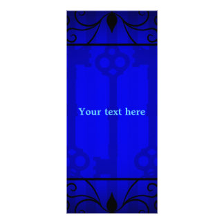 Royal blue elegance 2 sided rack card template