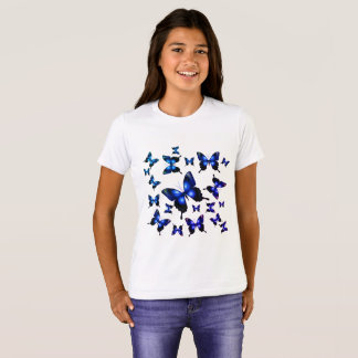 Royal Blue Elegant Whimsical Butterflies T-Shirt