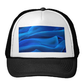 Royal blue flowing light textile elegant chic airy trucker hat