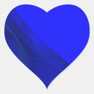 Royal Blue Fractal Background Heart Sticker