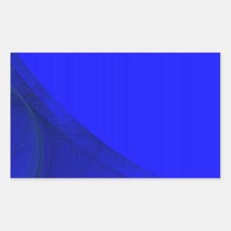Royal Blue Fractal Background Rectangle Sticker