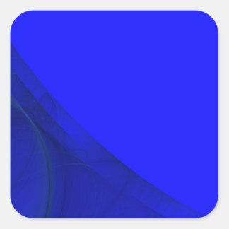 Royal Blue Fractal Background Square Sticker
