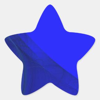 Royal Blue Fractal Background Star Sticker