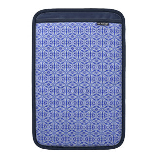 Royal Blue Fractal Pattern 11 Inch MacBook Sleeve