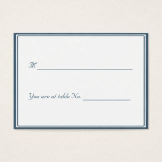 Royal Blue framed / Seat holder Business Card
