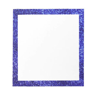 Royal Blue Glitter Notepad