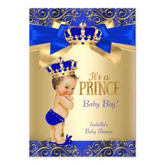 elegant royal blue boy baby shower invitations announcements