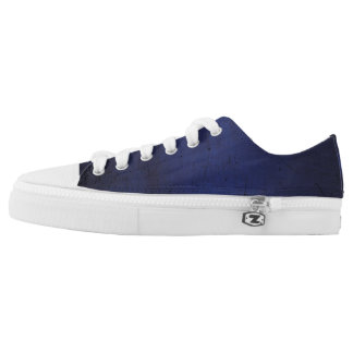 Royal Blue Grunge Low Tops