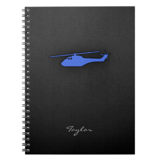 Royal Blue Helicopter Notebook