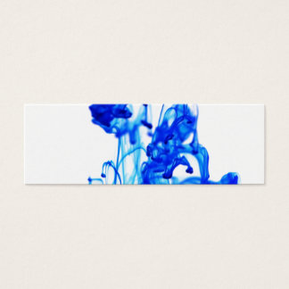 Royal Blue Ink Drop Macro Photography Mini Business Card