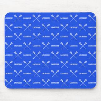 Royal Blue Lacrosse Sticks Mousepad