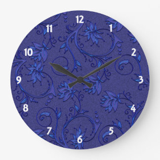 Royal Blue Large Clock