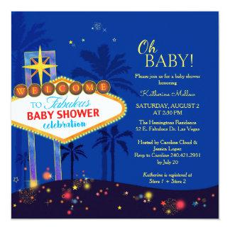 Royal Blue Las Vegas Baby Shower Invitation