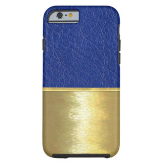 Royal Blue Leather Texture Gold Design Case